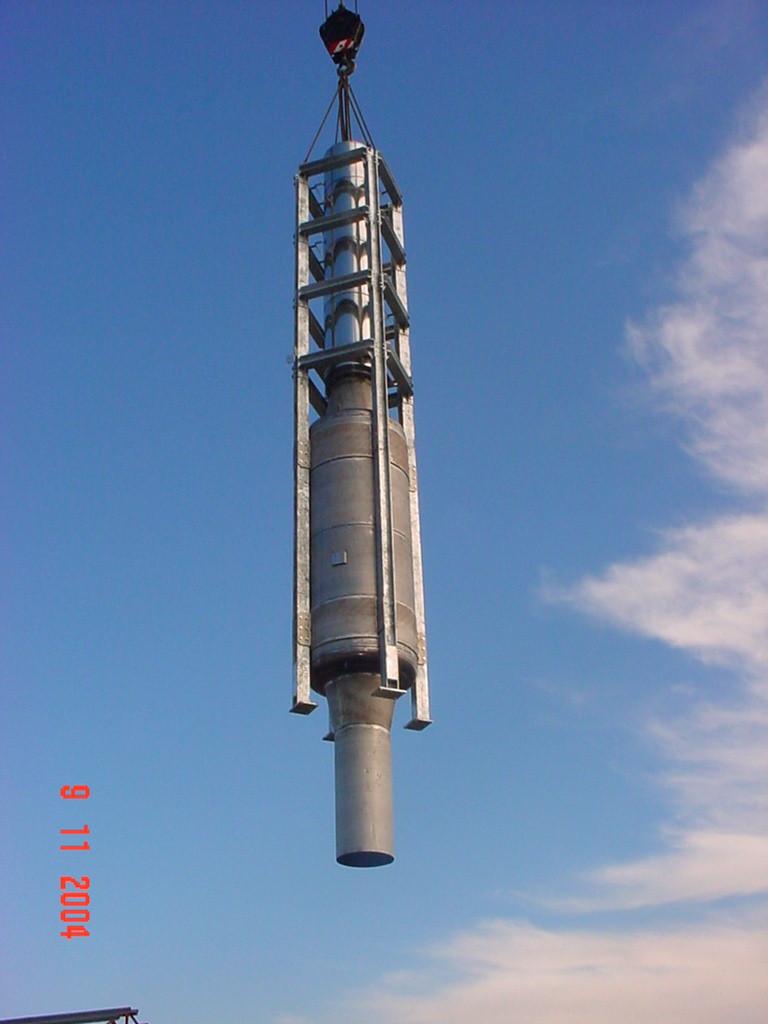 Silencieux cheminée industriel - fumées